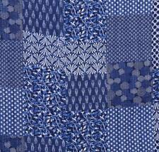 Indigo Twin Quilt Vintage Kantha Bedspread Throw Cotton Blanket Coverlet
