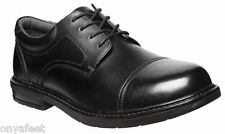 Mens HUSH PUPPIES DARWIN Black FORMAL/DRESS/WORK/LEATHER SHOES EXTRA WIDE MEN'S