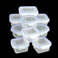New Clip Lock Plastic Food Storage Air Tight Containers Picnic Lunch box Salad
