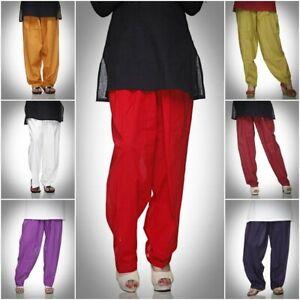 Ladyline Cotton Indian Salwar Pants with Drawstring Baggy Womens Pants Yoga