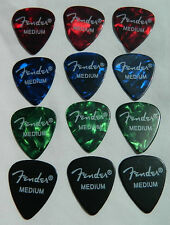 12 x Fender 351 Med' Premium Celluloid Guitar Picks / Plectrums Cheapest on ebay