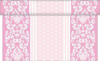 1 Tischläufer Bine in Rosa aus Linclass® Airlaid 40 cm x 4,80 m - Ornamente