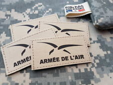Snake Patch - SCRATCH - ARMEE DE L'AIR NEW - SABLE TAN - VOL FRANCE AVION CHASSE