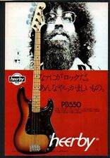 1976 Kasuga Heerby PB550 Bass Guitar JAPAN promo photo ad /mini poster advert h9
