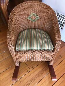 Children's Vintage Wicker Rattan & Bamboo Rocking Chair LOCAL PICKUP