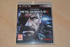 Metal Gear Solid V Ground ceros PS3 Playstation 3 ** ** GRATIS UK FRANQUEO