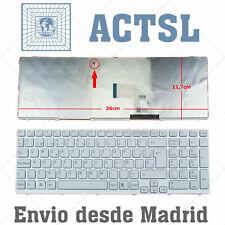 Teclado Español para portátil Sony VAIO SVE15 1E11T 12AJ 12P1EB 11P1EW BLANCO