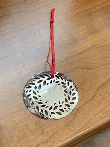 Georg Jensen Silver Palladium Christmas Mobile Magnolia Wreath Ornament 2016 NEW