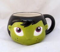 Green Wicked Witch Vtg Halloween Party Kitchen Decor Ceramic Tea Mug Coffee Cup
