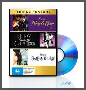 Prince DVD Triple Feature Purple Rain / Under The Cherry Moon / Graffiti Bridge