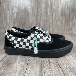 Vans ComfyCush Men's Size 9 Checkerboard Sneaker Shoes Black/White Womens 10.5