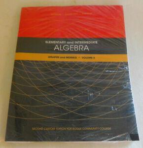 Elementary Intermediate Algebra Pearson Vol 3 Textbook Rogue Community College