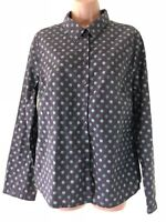 SEASALT brown floral print cotton long sleeve larissa shirt blouse top size 14