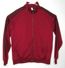 ADIDAS Men's Track and Field Suit Jacket Black & Red Full Zipper Size Large EUC