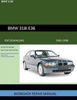 BMW 318i 318is 318ic 318ti  1991-1996 Workshop Repair Manual
