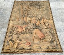 Antique French Large Floral tapestry Aubusson wall hanging Home Decoration 6x4