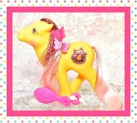 ❤️My Little Pony MLP G1 1987 Vtg Princess Ponies MOONDUST Tinsel Yellow JEWEL❤️