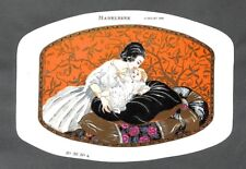 """ART DECO """" DESSUS DE BOITE DRAGEES BOISLIVEAU LA ROCHE-SUR-YON """" 1925"""