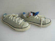 Junior Grey Double Tounge Converse All Star Low Trainers/Shoes, Size: UK 1/EU 33