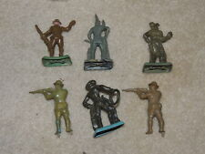 Vintage Lot of Hard Plastic Soldiers Cowboy Indian by Beton