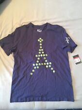 Nike Roger Federer French Emoji Eifel Paris Practice Shirt - 885548-410 - L- RF