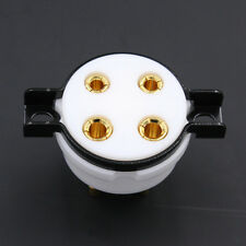 1Pc 4Pin Teflon Vacuum Tubes Amplifier Socket Gold Plated for 300B-T 572B 811A