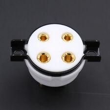 1Pc 4Pin Teflon Vacuum Tubes Amplifier Socket Gold Plated for 300B-T 572B 811A