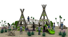45x30x20 Commercial Playground Equipment Interactive 100% Financing Available