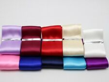 10 Meter 38mm Double Sided Satin Ribbon Gift Bow Wedding Craft 10 Color