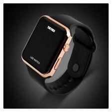 Womens Ladies Mens Kids Silicone LED Waterproof Digital Sports Wrist Watches UK
