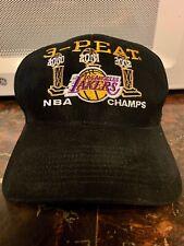 Vintage Los Angeles Lakers 3-peat NBA Championship Strapback Hat Kobe Shaq