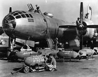 WWII Photo USAAF B-29 Bomb Loading and Arming  WW2 B&W World War Two / 5105