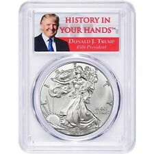 2017 1oz Silver Eagle PCGS MS70 - First Strike - Donald Trump Label