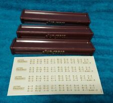 Lot of 3 Replacement Scrabble Deluxe Letter Tile Rack Holders Maroon Plastic