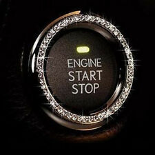 Universal Car SUV Decorative Silver Accessories Button Start Switch Diamond Ring