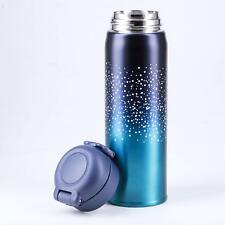 Stainless Steel Insulated Travel Flask Mug Blue Starry Night Hot Cold Gift 500ml