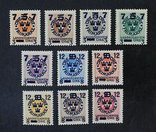 CKStamps: Sweden Stamps Collection Scott#B22-B31 Mint H OG