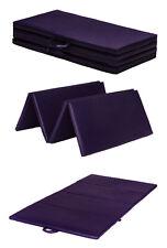 "Purple Folding Large 8ft Play Gym Mat Floor Exercise Yoga 2"" Foam PVC Gymnastics"