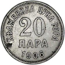 MONTENEGRO coin 20 Para 1906 VF+ Choice Very Fine condition