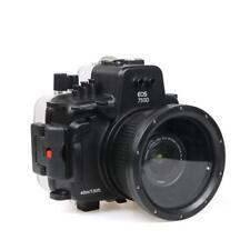 UK 40M Caja Submarina Buceo Carcasa De Cámara Para Canon EOS 750D con 18-135mm