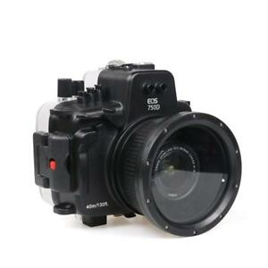 UK 40M Underwater Case Camera Housing Diving for Canon EOS 750D with 18-135mm