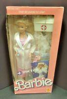 1987 Barbie DOCTOR BARBIE Doll Sealed NEW 3850 Mattel Dr. Vintage Over 20 Pieces