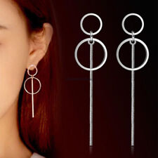 Korean Double BTS Circle Dangling Earrings Geometric Drop Earring Female Jewelry