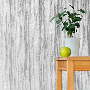 Winterfold Anaglypta Paintable Wallpaper Textured Heavy Vinyl Stripes RD6200