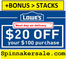 Exp 3 Days ONE (1X) 20 off 100 LOWES Coupon1-INSTORE+Stacking BONUS INFO