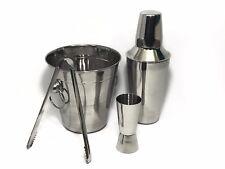 4PC Stainless Steel Cocktail Shaker Bar Mixer Set Tools Drink Kit Bartender