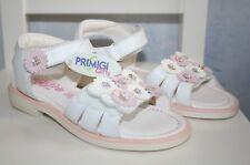 Ƹ̵̡Ӝ̵̨̄Ʒ Primigi Sandalen Ballerinas Schuhe Weiß Rosa Leder Blümchen Gr. 29