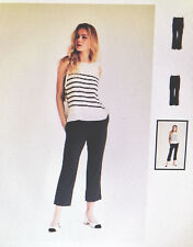 NWT Finders Keepers Women's High Rise Capri Pant Black Size L