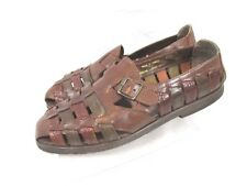 Stacy Adam Mens Fisherman Leather Strap Sandals Sz 10M Brown Slip On PC38