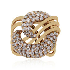 18k Rose Gold 2ctw Diamond Swirl Ring